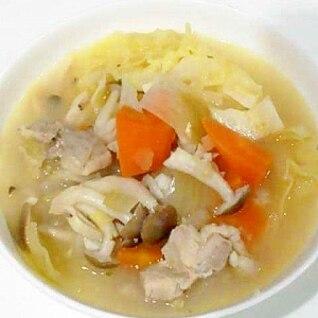 白ワインで!野菜たっぷりスープ