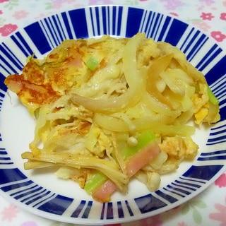 余り野菜と卵のチーズ炒め++