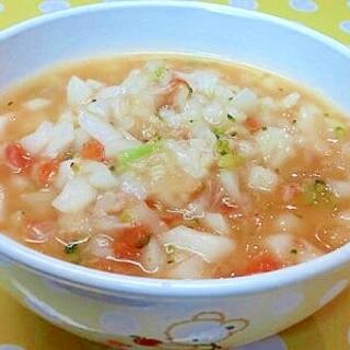 【離乳食】ツナ&ブロッコリーのトマト煮こみうどん