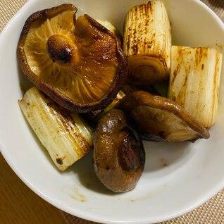 椎茸と長葱のバター醤油炒め!