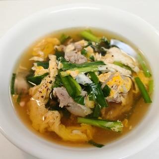 和風ニラ玉スープ