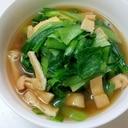 簡単に、小松菜と油揚げのさっと煮
