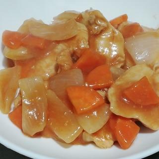 生姜で代謝upレンジで簡単ヘルシー♪鳥肉の甘酢あん