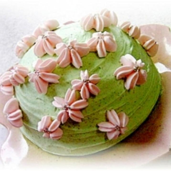 桜の山のムースケーキ(ドームケーキ)