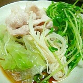 シャキシャキ野菜の豚しゃぶ鍋