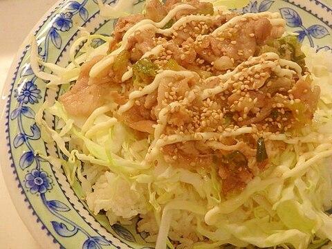 豚の甘辛炒めご飯