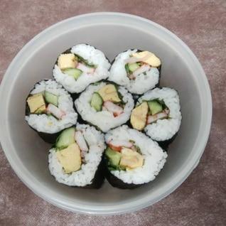 仕事の日のお寿司弁当