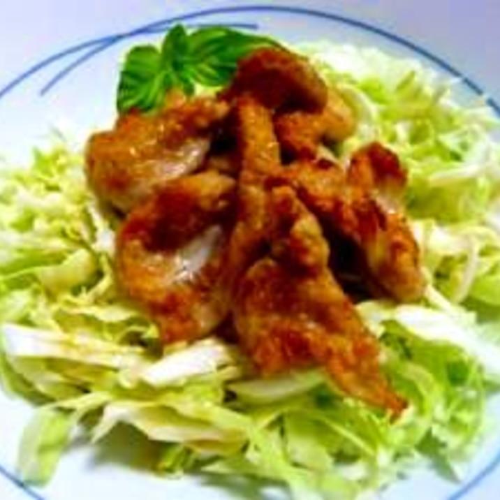 鶏皮のパリパリ★サラダ