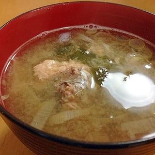 鯖缶のお味噌汁