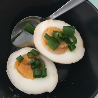 すり下ろし生姜入り和風出しで簡単半熟卵