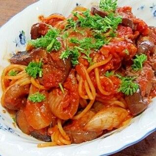 茄子のトマトパスタ・アラビアータ風 (我が家の味)