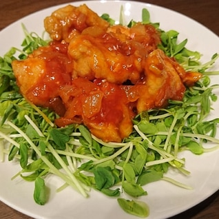 節約レシピ★鶏むね肉のチリソース