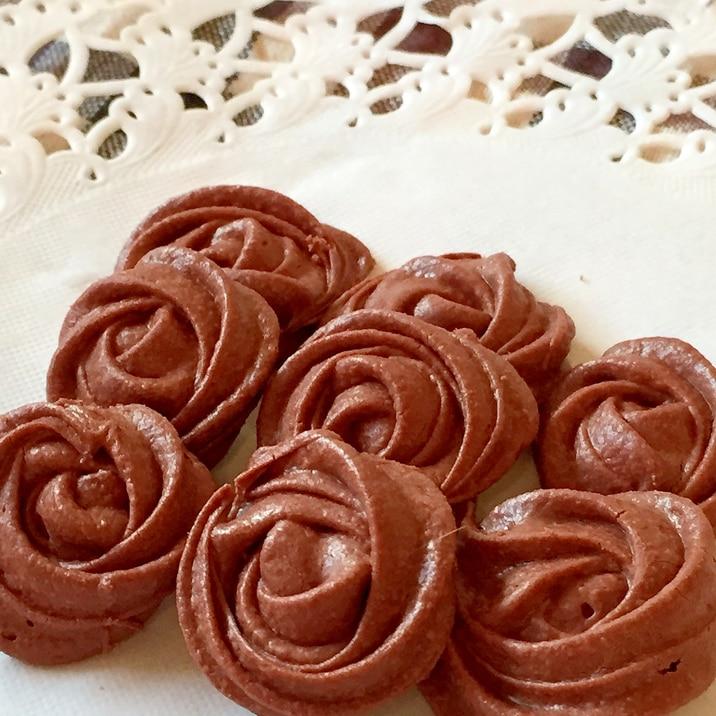 薔薇が花咲く♡絞り出し焼きチョコ