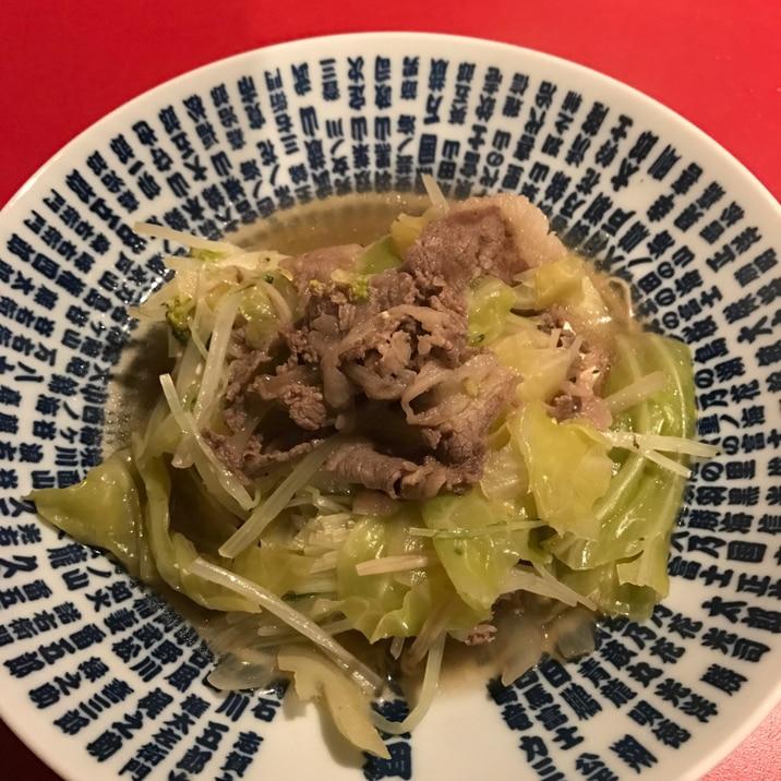 キャベツ入り肉豆腐
