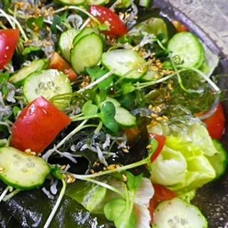 海藻じゃこサラダ