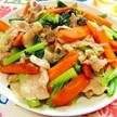 簡単!すぐ作れます!豚肉と小松菜の麺つゆ炒め