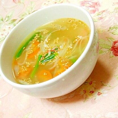 ダシダde❤彩り野菜のセンレック(米麺)スープ❤
