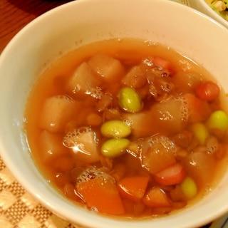 レンズ豆の和風スープ
