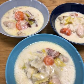 フライパンひとつで♪白菜と鶏肉のクリーム煮