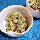椎茸と挽肉の甘辛炒め