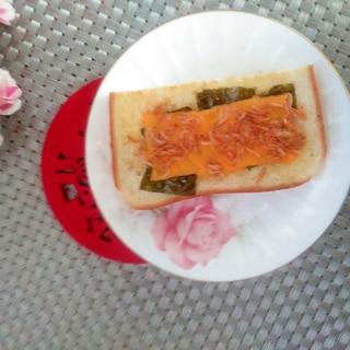 朝食♩あみえび海苔チースト