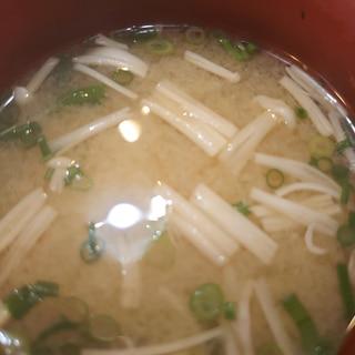 エノキと芽ネギのお味噌汁