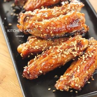 鶏手羽中の甘辛炒め
