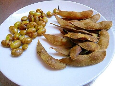 定番のおつまみの枝豆が大変身!燻製枝豆
