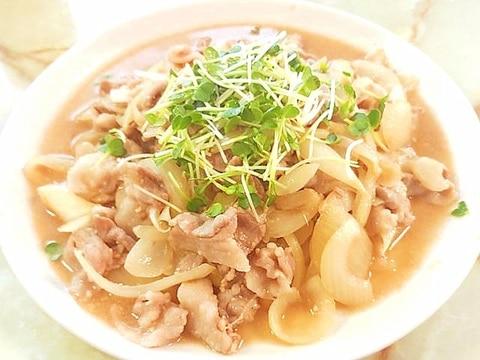 ご飯が進む味?!豚バラ薄切り肉の味噌生姜焼き♪