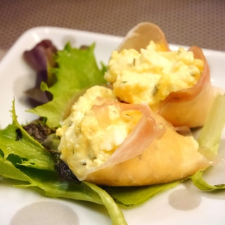 生ハムとゆで卵DEイタリアンオードブル