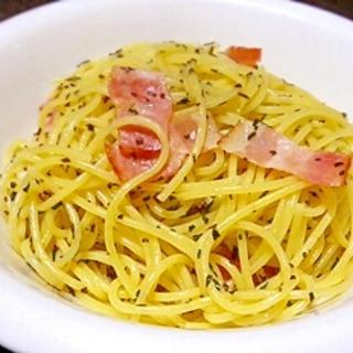5分で出来る!簡単「バジリコスパゲティ」