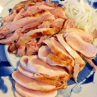 朝びき鷄で☆鶏のタタキ