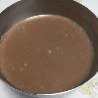 ココナッツミルクとココアと甘酒の寒天