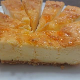 黄金柑ジャムのベークドチーズケーキ