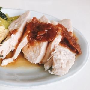 【しっとりやわらか!】豚肉の冷しゃぶ 梅肉ソース