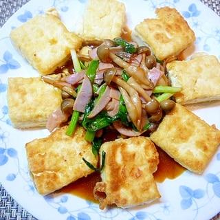 豆腐も主菜に~~野菜をのせて