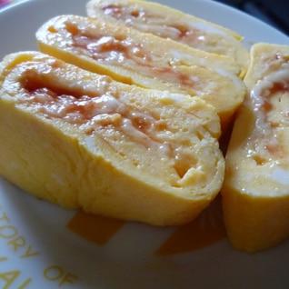 チーズとケチャップの卵焼き