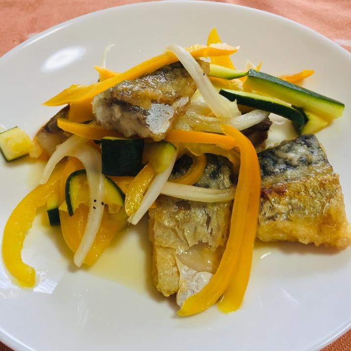 野菜たっぷり✨ご飯が進む!塩サバの南蛮漬け✨