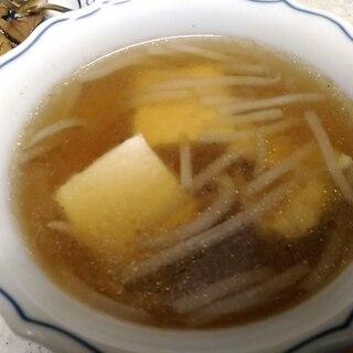 もやしと豆腐の和風スープ