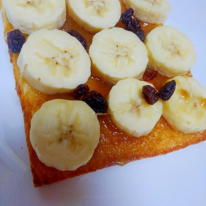 カヤジャムとバナナのトースト