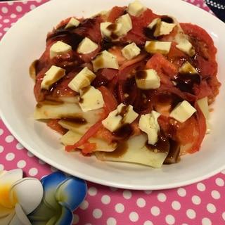 [電子レンジ]メークインのトマトソース&チーズ