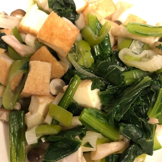 【離乳食完了期】小松菜と厚揚げのレンジ蒸し