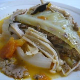 ロールキャベツより簡単、キャベツとひき肉のトマト煮
