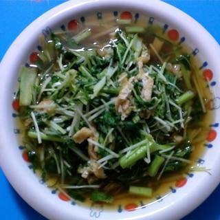 水菜と小松菜の煮びたし