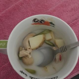 ロブスターボールたっぷりのシーフードスープ