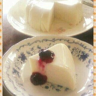 水切りヨーグルトと牛乳でレアチーズケーキ風