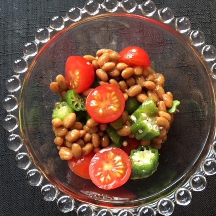 ダイエットのお供に オクラとトマトと納豆