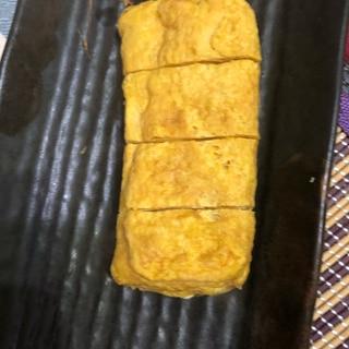創味つゆで卵焼き(^^)