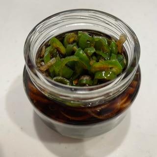 青唐辛子の醤油漬け⭐みょうが入り
