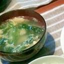 レタス外葉の中華スープ